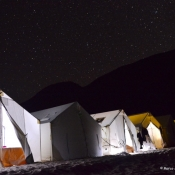 ESQG base camp at night stars 9x6