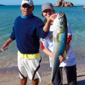 Fishing Suzy and yellowtail 9x6
