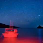ES Candelero stars and boat 9x6