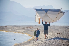 IH dad and son moving tent 9x6