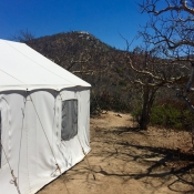 FSS tent in desert
