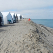 MB camp tents Meryl reading