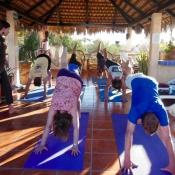 Well group yoga on palapa