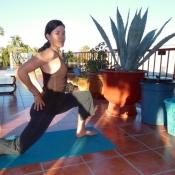 Well suzy yoga on palapa