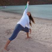 Well yoga on beach Emily