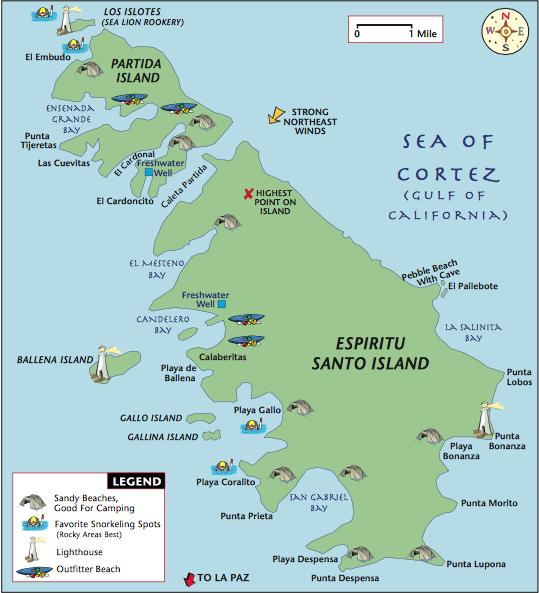 Espíritu Santo Map